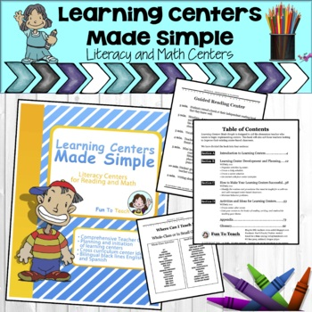 Learning Centers Made Simple - Literacy Center Ideas for Reading and Math