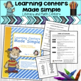 Learning Centers Made Simple - Literacy Center Ideas for R