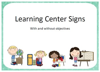 Learning Centers Pack