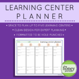 Learning Centers Planner
