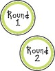 Learning Centers Signs - Blue and Green Polka Dot Design