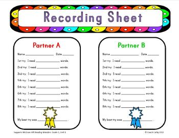Learning Centers for McGraw-Hill Reading Wonders Grade 1 Unit 1 Week 2
