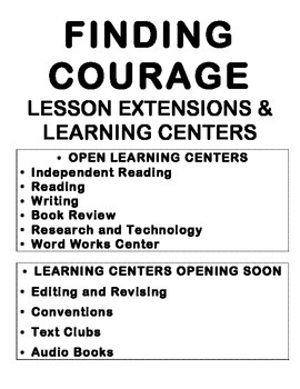 Learning Centers to Accompany ReadyGEN Fifth Grade Module 2A