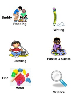 Learning Centers/Work Station Pocket Chart Cards