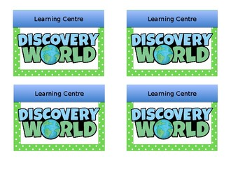 Learning Centre Label