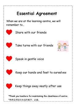 Learning Centre Rules