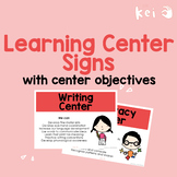 FULL Learning Center Signs with center objectives (US English)