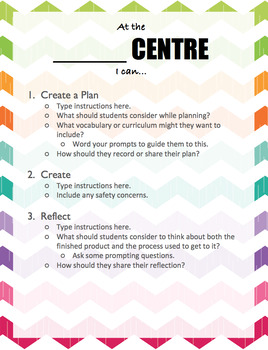 Learning Centres Signs for Student-Centred Classrooms or Makerspaces