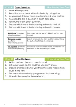 Learning Centres to Support Guided Reading - Book 1