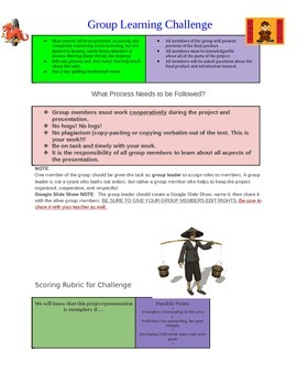 Learning Challenge: A Time of Dynasties: Ancient China
