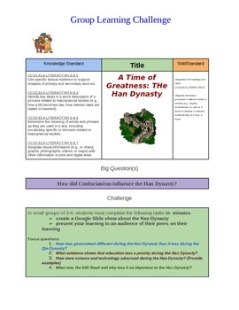 Learning Challenge: A Time of Greatness: The Han Dynasty