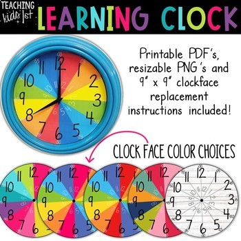6086fdf03d Learning Clock by Teaching Kids 1st