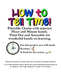 Learning Clock, How to tell Time, Movable Hands