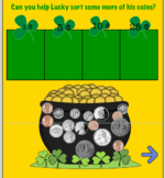 Learning Coins with  Lucky the Leprechaun! SMART board interactive notebook