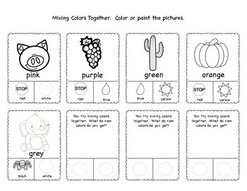Learning Color Flash Cards, Activities and Puzzles