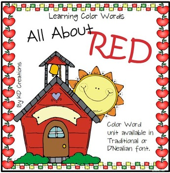 Learning Color Words in Kindergarten - Red