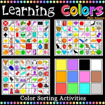 Learning Colors Activities Pack