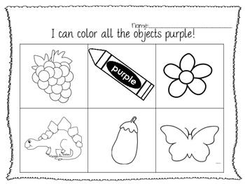 learning colors-- 6 color Bundle