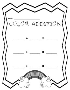Learning Colors:  Color Combinations Addition