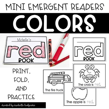 Learning Colors | Color of the Week Activities | Mini Foldable Color Books