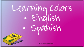 Learning Colors--English and Spanish