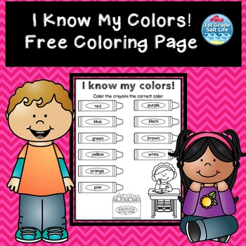 Learning Colors Free Resource / Color the Crayons