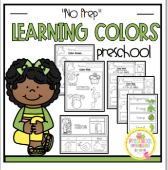 """Learning Colors """"No Prep"""""""