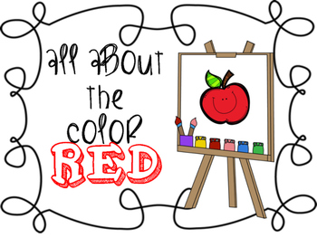Learning Colors-- RED FREEBIE