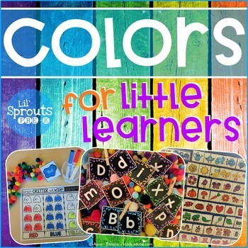 Back to School COLOR UNIT - PreK, Preschool, Kindergarten, Pre-K