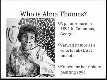 Learning Colors with Alma Thomas Power Point