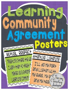 Learning Community Agreement Posters