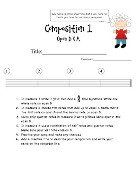 Learning Composition with Ollie Overture - Composing for Beginning Orchestra