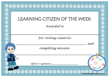 Learning Contract - World of Learning!