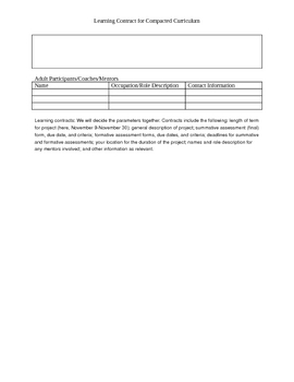 Learning Contract for Compacted Curriculum