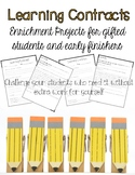 Learning Contracts - Low Prep Enrichment Projects For Any