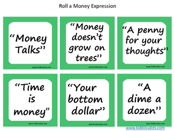"""Learning Cube inserts  """"We're in the Money..."""""""