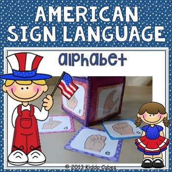 Learning Cube inserts American Sign Language Alphabet