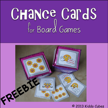 """Learning Cube inserts """" Chance Cards 4 Board Games"""""""