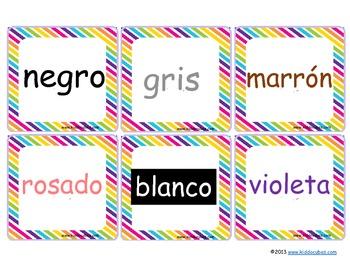 Learning Cube inserts El Nombre de los Colores