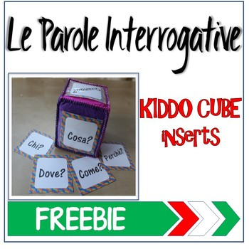 Learning Cube inserts Le Parole Interrogative