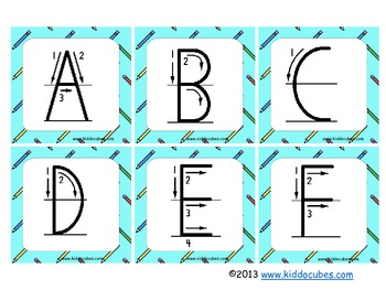 """Learning Cube inserts """" Letter Formation"""""""