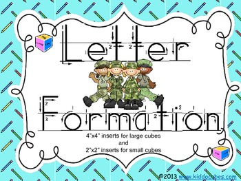 "Learning Cube inserts "" Letter Formation"""