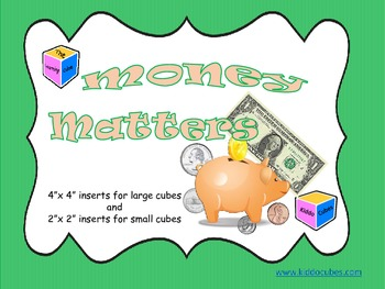 "Learning Cube inserts ""Money Matters"""