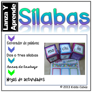 """Learning Cube inserts """" Silabas"""""""