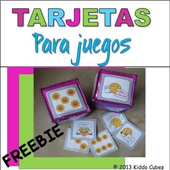 "Learning Cube inserts "" Tarjetas de Juego"""