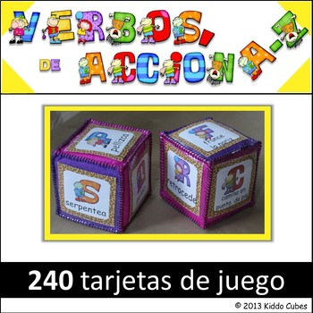 "Learning Cube inserts ""verbos de accion"""