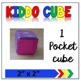 """Learning Cube with pockets 2""""x 2"""""""