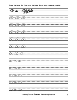 Learning Cursive Extended Practice: With Over 8,500 Cursive Tracing Units