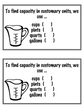 Learning Customary Measurement Student Book Printable