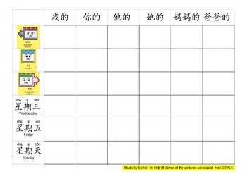 Learning Date in Chinese: 2 Tic Tac Toe Game Boards